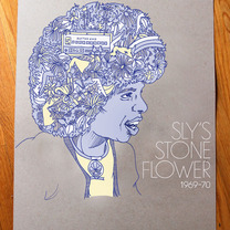 Sly's Stone Flower Poster