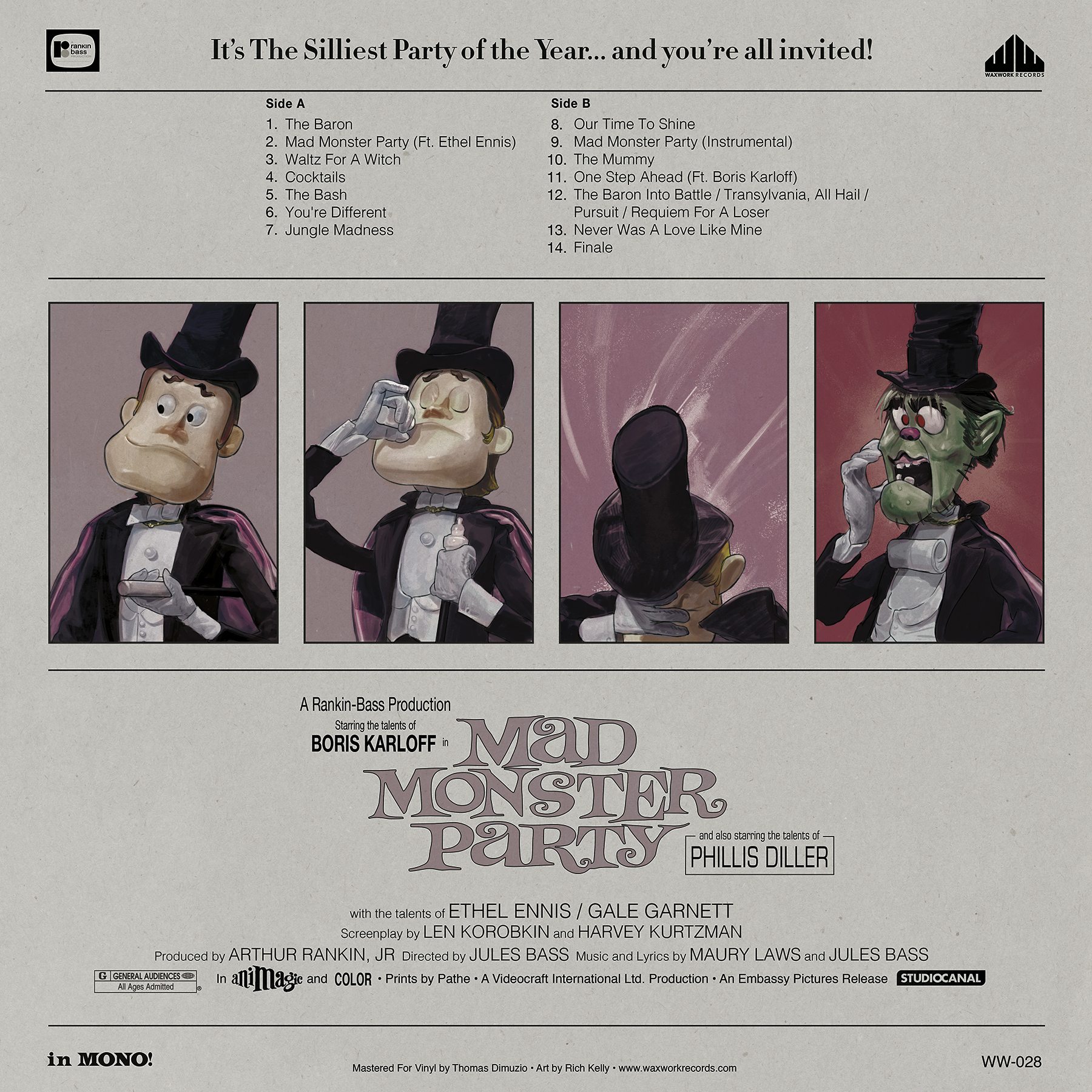 Mad Monster Party 1967 Original Soundtrack Light In