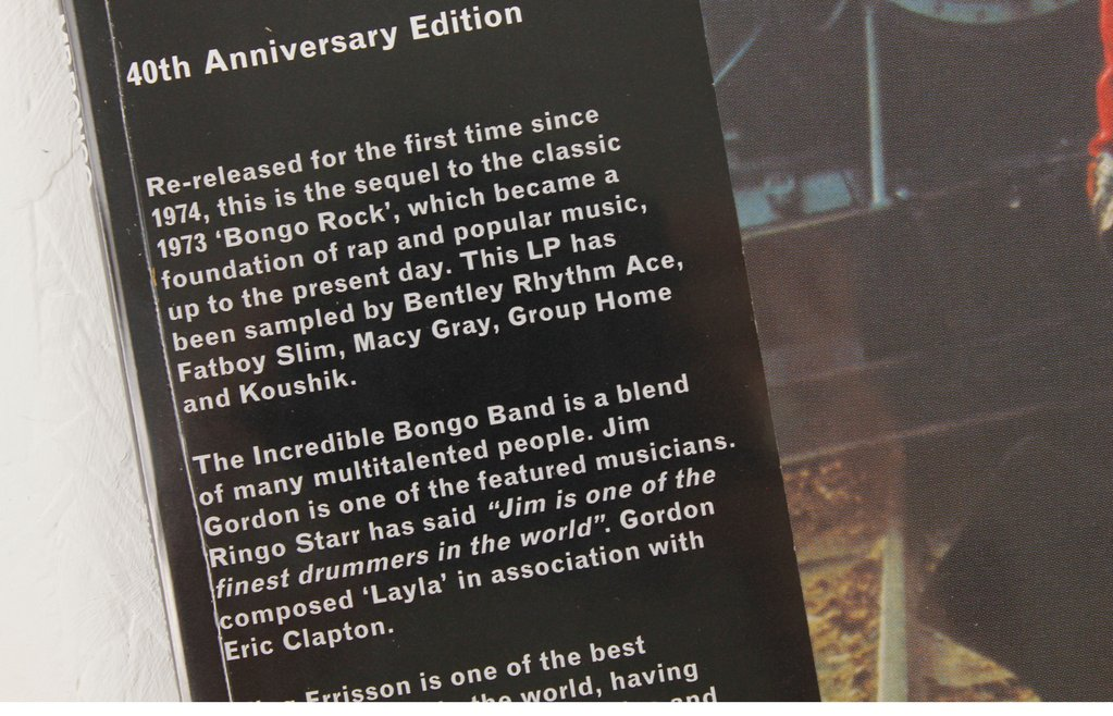 Return Of The Incredible Bongo Band: Deluxe 40th Anniversary Edition