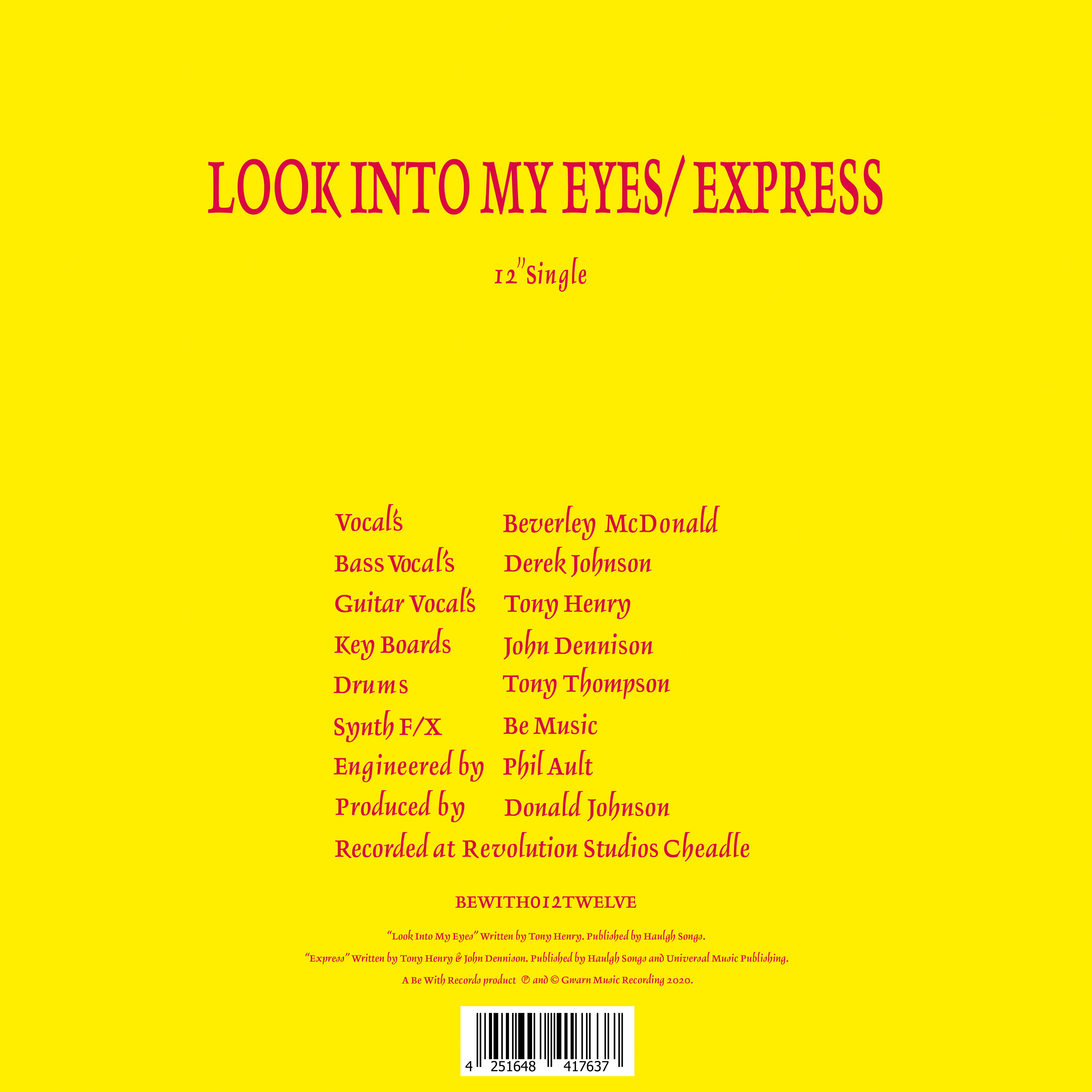 Look Into My Eyes / Express